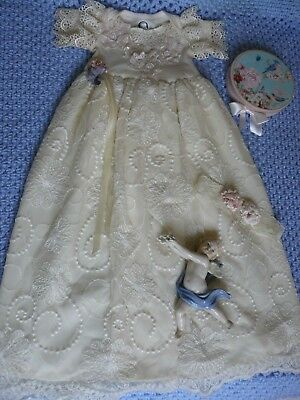 BEAUTIFUL ANTIQUE LOOK DRESS with ONSIE for REBORN BABY GIRL...