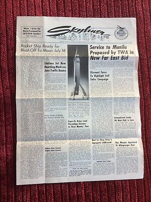 Rare July 7 1955 Skyliner Publication: Disneyland Article + TWA Rocket Photo