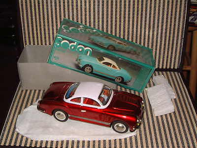 Nib Fully Tin, Friction Driven, Volkswagen Karmann Ghia In Red. Model Mf743