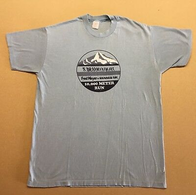 Vintage Fred Meyer • Runner Up T-Shirt / Made in USA / Paper Thin!