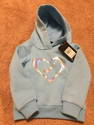NWT Toddler Giel Nike Hoodie Sweatshirt -Size 2T-Blue Chill