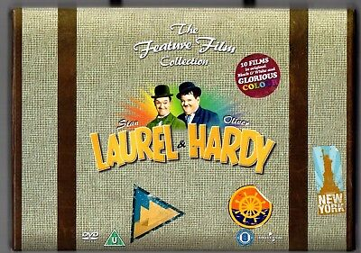 The Feature Film Collection Laurel & Hardy Dvd Boxed Set B &w/ Colour
