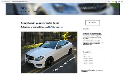 WinMyMercedes.com - Online Competition Business For Sale