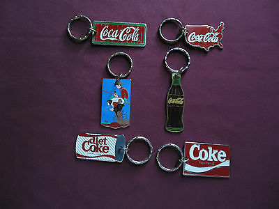Coca-Cola Keychains - Lot of 6