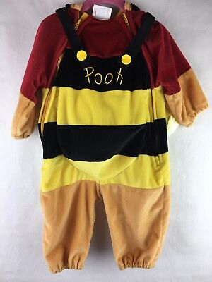Disney Store Baby's Size 6-12 Months Winnie The Pooh Honey Bee Costume Hooded