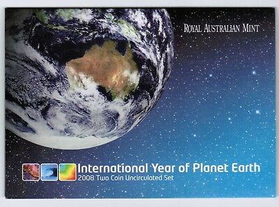 2008 2 Coin Mint Set  Uncirculated Year of Planet Earth