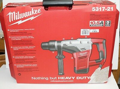 Milwaukee 5317-21 1-9/16-in SDS-MAX Electric Hammer Drill W/ Case
