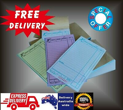 100 Large Restaurant Docket Books TRIPLICATE MONTHLY SPECIAL FREE DELIVERY