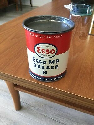 Esso Grease Tin 1LB Excellent Original Condition Buy Now Free Post In Australia