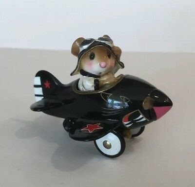 Wee Forest Folk Pedal Plane FTF 2008 BLACK PANTHER w/ Gold Trim Event Special