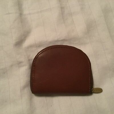 Longaberger Change/Coin Purse leather