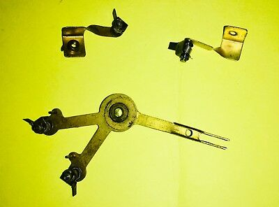 "Self Winding Clock Co. ""F"" Movement, 3 pieces Winding Ratchet Lower & Upper"