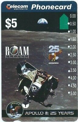 $5 Apollo 11 Multi Hole Telstra Phonecard
