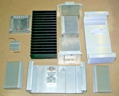 Assorted Lot of 10 Used Aluminum Heat Sinks weighing 9 lbs