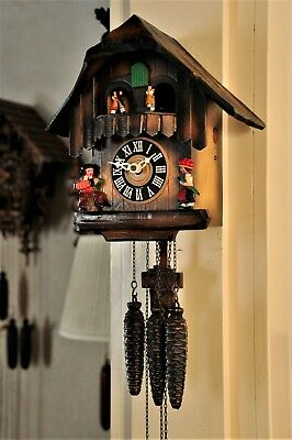 Musical cuckoo clock, 2 tunes, great working order, (See Video)