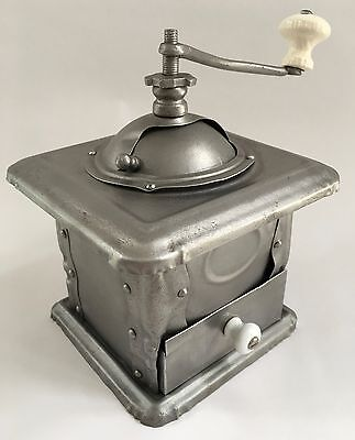 "1800's RARE A+ Antique French MUTZIG FRAMONT ""1"" Sheet Metal Coffee Mill/Grinder"