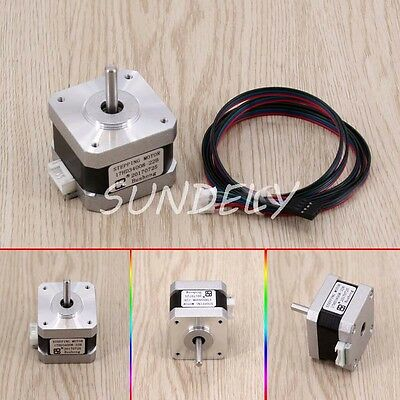 1.7A 40N.cm 40mm length 4-Lead 2 Phase Longs Stepper Motor for CNC Nema17 42*42m