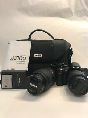 Nikon D3100 with Camera body, two great lenses and lots of extras