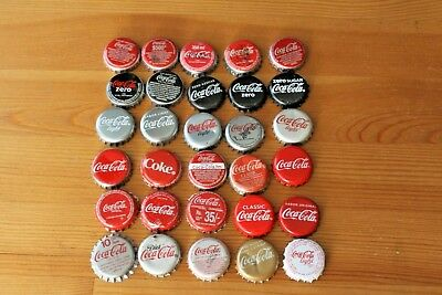 Set Of 30 Coca-Cola/coke  Bottle Caps. No Duplicates. Different Countries