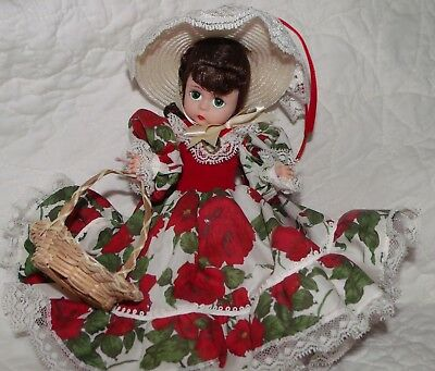 Madame Alexander Doll, Scarlett Picnic GWTW 15030 Beautiful Red Floral Dress