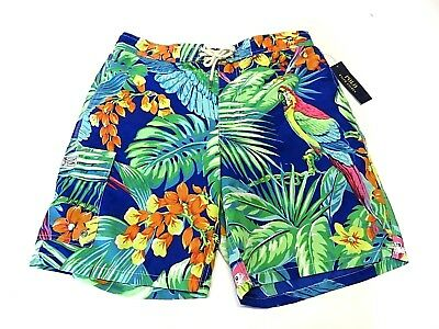 NWT Polo By Ralph Lauren Multi-Colored Tropical Swim Trunks Adult Men's Size L