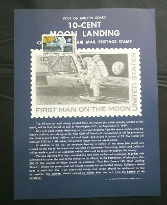 USA 10-cent Moon Landing First Man On Moon First Day of Issue September 9 1969