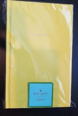 KATE SPADE New York YELLOW A LIKELY STORY Notebook JOURNAL with LINED PAGES