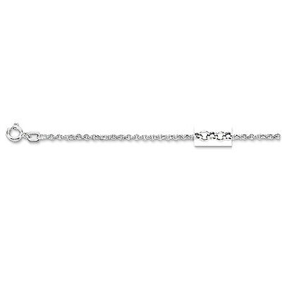 "14k White Gold Round Cable ROLO Link Pendant Chain/Necklace 20"" 1.9mm 1.7 grams"