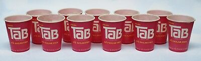 "Vintage Lot of 11 Coca Cola ""Enjoy Tab"" Sugar Free Paper Wax Tasting Cups"