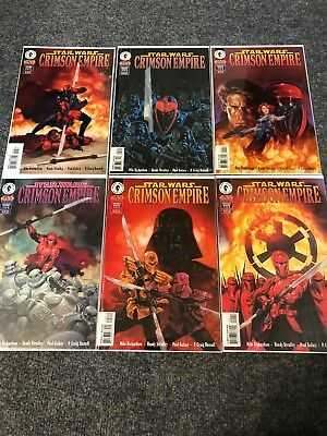 Star Wars Crimson Empire Comic Book Lot 1, 2, 3, 4, 5, 6