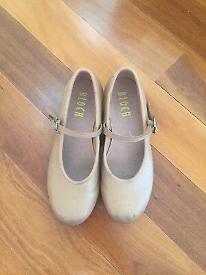 Size 13 Girls Bloch Tap Shoes - Tan