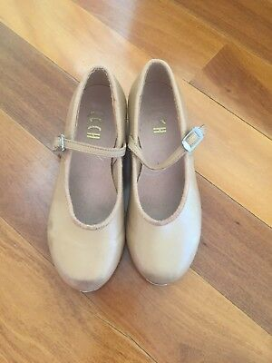 Size 12 Bloch Girls Tap Shoes - Tan