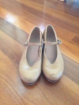 Size 4.5 Bloch Girls Tap Shoes - Tan