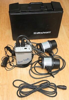 Elinchrom  Free Style (Ranger) mobile studio flash 2 heads Post or Pickup Manly