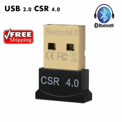 Mini Bluetooth 4.0 USB 2.0 CSR4.0 Dongle Adapter For Win 10 8 7 XP Laptop PC C9