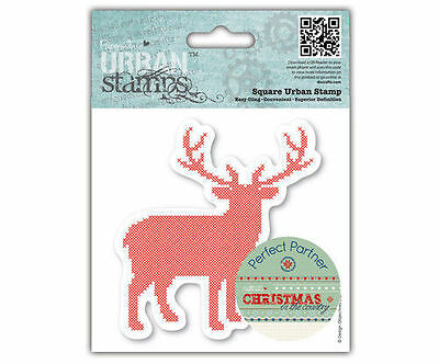 Papermania Christmas in the Country 'Stag' Urban Cling Stamp *Free UK P+P*