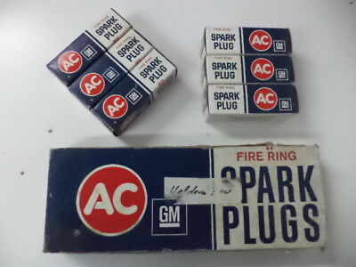 Ac-Delco  43Lt Fire Ring Spark Plugs(6) New Old Stock In Original Boxes.