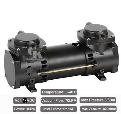 DC 12V Oilless Mini Air Pump Double-Stage Micro Brushless Diaphragm Pump