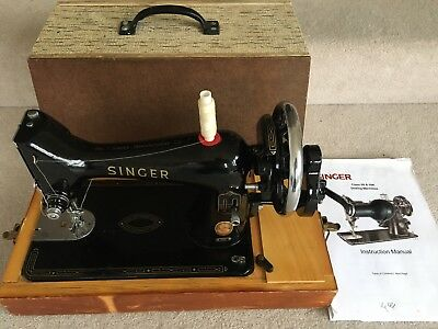Vintage Singer Sewing Machine 99k Fully Working Hand Crank & Case