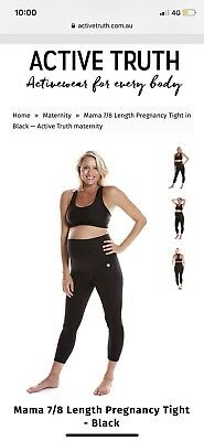 Active Truth Maternity Active Wear 7/8 Exercise Pants Size XL Black