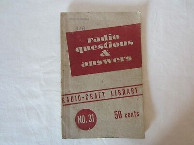 Vintage Radio Questions And Answers Book 1947 Gernsback Radio Craft Library