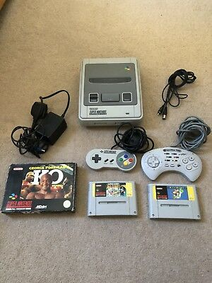 SNES console Bundle With 2 Controllers & 3 Games