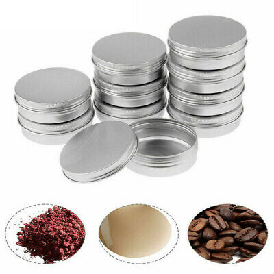 30 pcs Small Mini Round Tin Can Boxes Metal Box Jewelry Container 30ml with Lids