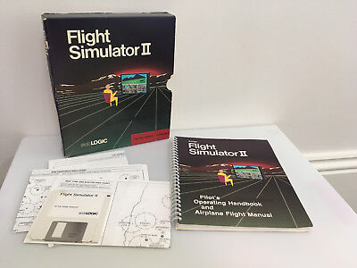 "Flight Simulator 2 (Commodore Amiga game, 3.5"" disk, boxed complete)"