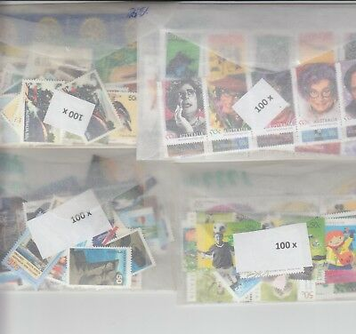 Australia postage stamps with gum face value $200  (400 x 50c)nk