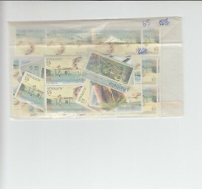 Australia postage stamps with gum face value $325   (65 x $5)cz