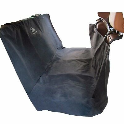 "Bench Pet Seat Cover 55"" x 60"" with 2 Seat Belt Slots and 4 Quick Connect Straps"