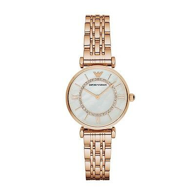New Emporio Armani Ar1909 Ladies Rose Gold Watch - 2 Year Warranty - Certificate