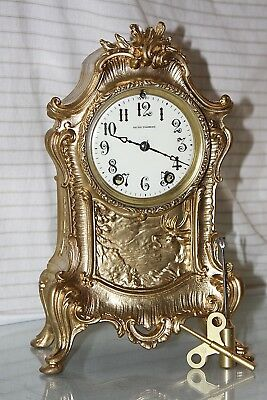 "SETH THOMAS ""VISTA""Model, CLOCK-Totally!!-Restored- c 1890- BRASS-BRONZE COLOR"