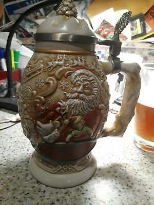 Avon Father Christmas Stein 1994 In Original Box New  Collectible